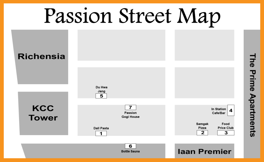 Passion Street Map