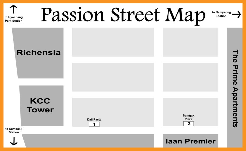 Samgak Pizza Map